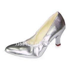 87ebd855a45a Women s Real Leather Heels Pumps Ballroom Dance Shoes (053021374)