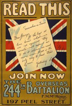 WW1 British enlistment poster
