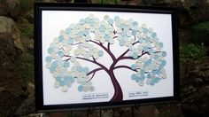 A modern spin on the traditional Wedding guest book.
