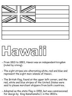 Hawaii State Map Outline Coloring Page | Hawaiian ...
