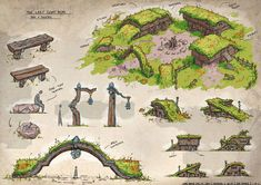 [Pic] I feel like this would be for a halfling settlement that is close to/ deals with non-smallfolk and thus mixes architectural styles and has some buildings of a size more welcoming to non-smallfolk.
