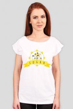 "Słoik ""Sugar"" - t-shirt - jars and sunflowers"