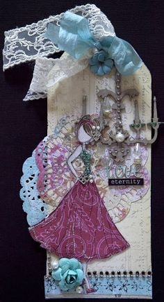 Creative Mayhem: Prima Mixed Media Doll Stamps ...Lorrena My All Time Favourite