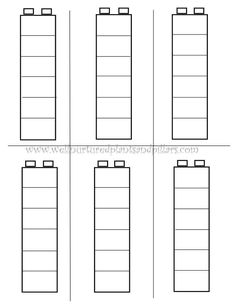 Busy Bag Ideas with Free Printable Lego Duplo template help with counting or patterns with kindergarteners.Lego Duplo template help with counting or patterns with kindergarteners. Lego Activities, Preschool Activities, Preschool Printables, Free Printables, Preschool Math, Kindergarten Math, Preschool Curriculum, Curriculum Template, Montessori Education