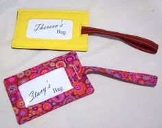 Sid's In Stitches: Luggage Tags Are EASY!
