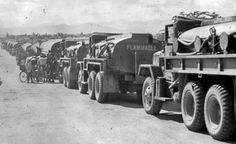fuel tank convoy Vietnam | M49-series Fuel Servicing Trucks, POL Convoy At Pleiku, Vietnam. The ...