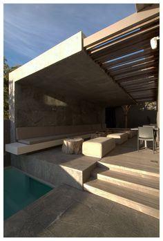 Outdoor seating ideas. POD Hotel, Camps Bay, South Africa, by Greg Wright Architects