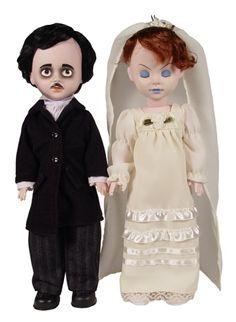 Living Dead Dolls Edgar Allan Poe & Annabel Lee Doll Set