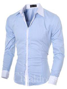 612f79ef672a5 Lapel Single-Breasted Long Sleeve Men s Shirt. Hockey Party ...