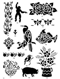 Nature Stencil Designs CD-ROM and Book  1 of my free downloadable images today
