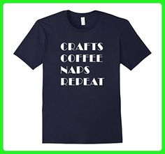 Mens CRAFT COFFEE NAPS REPEAT - WOOD WORKERS SHIRT XL Navy - Food and drink shirts (*Amazon Partner-Link)