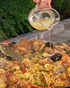 Paella - Martha Stewart Recipes. I will substitute the pork and the liquor with something else.