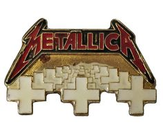"""METALLICA Master Of Puppets vintage enamel pin badge heavy metal punk by VintageTrafficUSA  35.00 USD  A vintage Metallica pin! Decent condition with some rust. Measures: approx 1"""" Beautiful die struck metal pin with colored filling. Add inspiration to your handbag tie jacket backpack hat or wall! -------------------------------------------- SECOND ITEM SHIPS FREE IN USA!!! LOW SHIPPING OUTSIDE USA!! VISIT MY STORE FOR MORE ITEMS!!! http://ift.tt/1PTGYrG FOLLOW ME ON FACEBOOK FOR SALE CODES…"""