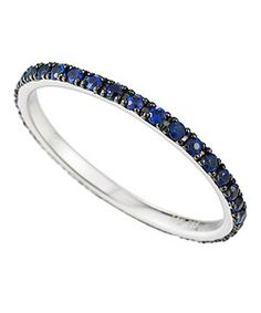 blue pave sapphire ring