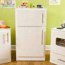 DIY kid's fridge, stove, and sink
