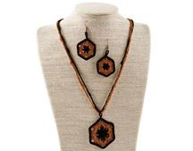 """Necklace & Earrings Set from my online class, """"Learn to Crochet with Thread"""" on the Annie's website Crochet Books, Thread Crochet, Knit Crochet, Crochet Classes, Learn To Crochet, Universal Yarn, Jewelry Clasps, Fashion Earrings, Earring Set"""