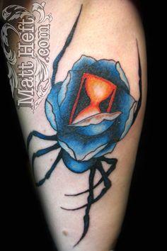 Black Widow Rose Tattoo