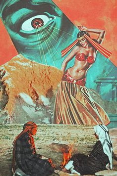 The Arabian Nights. Surreal Mixed Media Collage Art By Ayham Jabr.