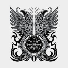Huginn & Muninn, Odin's Ravens by Celtic Hammer Club tattoos meaning tattoos back tattoos symbols tattoos tatau Tattoo Tribal, Maori Tattoos, Marquesan Tattoos, Viking Tattoos, Arm Tattoo, Body Art Tattoos, Polynesian Tattoos, Celtic Tattoos For Men, Filipino Tattoos