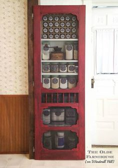 Vintage Inspiration Party #201 - Red Pantry Screen Door and More and Giveaway Winner! - Knick of Time