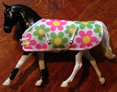 Floral Print Model Horse Blanket 1:12 / by StarryMountainDesign