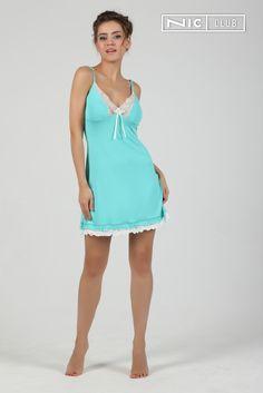 774d6f294a7 Ночная сорочка отделана вышивкой контрастного цвета на чашках во всех  вариантах