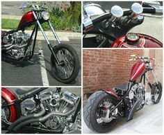 Learn more about this used ruby red 2010 Special Construction Special Construction motorcycle for sale on ChopperExchange. It has miles and it's located in san clemente, California. Red 2010, Local Builders, West Coast Choppers, Custom Bobber, Brake System, San Clemente, Red Paint, Ruby Red, Motorcycles For Sale