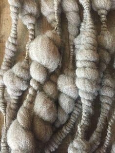 "Kristi Roelle, Cedar Grove Ranch, Handspun Beehives/Coils/Shells Wool Art Yarn, Soft Super Bulky Natural Colored Fleece, ""Beachcomber"" Knit Crochet Weave Felt Craft by CedarGroveRanch on Etsy"