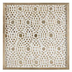 Gold shadowbox artwork. Paper Glow by Michael Young, $299.95 #ZGallerie