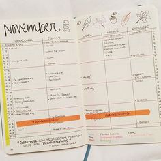 I opted this month for a two-page spread dividing things by category for quick hunting. The expenses tracker is a true experiment as I've never tracked closely before. And I'll need to play over the next two months to find a way to track course work on this calendar since I'm going back to school in January! #planwithmechall