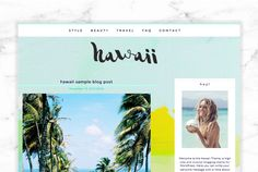 Tropical Travel Responsive Blog by Boutique WebDesign Studio on Creative Market