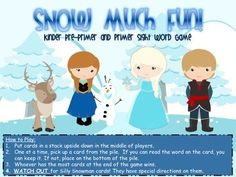 Need a new game to gain interest in practicing sight words? Well this is the game for you!!! Made by popular demand in my classroom, this is the SNOW MUCH FUN! Sight word Game. Frozen Fun!