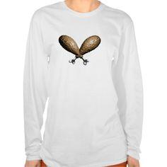 Fried Chicken Crossbones T-shirts