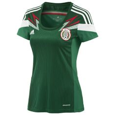 dd2ef1c1c Amazon.com   Adidas Women s Mexico 2014 Home Jersey G86989   Soccer Jerseys    Clothing
