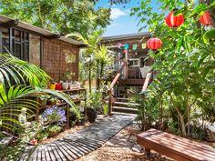 5 James Street, Girards Hill, NSW 2480 Surf Shack, Garden Ideas, Surfing, Deck, Real Estate, Street, Outdoor Decor, Plants, House
