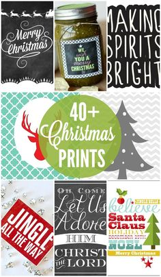 40+ Christmas Printables - FREE Christmas Printables to use for decor and gifts from @kristynm