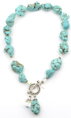 Need to make this, I love turquoise, especially in the summer.