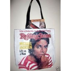 """Michael Jackson """"Rolling Stone Magazine Cover"""" Limited Edition Tote Bag."""