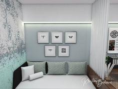 Návrh interiéru pracovne Keď práca teší, detail rozkladacej sedačky Gallery Wall, Study, Home Decor, Homemade Home Decor, Studio, Learning, Research, Decoration Home, Studying