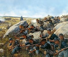 The 140th New York on Little Round Top By: Keith Rocco