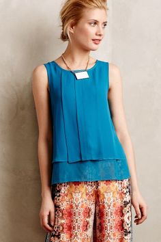 Structured Cascades Shell - anthropologie.com