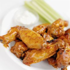 This lighter version of the chicken wings that are ubiquitous at every Super Bowl party takes just five minutes for prep. After an hour in the oven, the honey reduces to a rich coating and the chicken is tender and juicy.