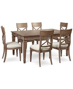 Winston 7 Piece Dining Set (Dining Table & 6 Side Chairs) - Furniture - Macy's