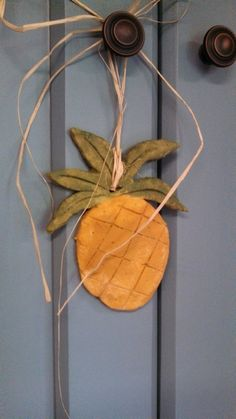 Country Pineapple Ornament Primitive Door Decor by ThisOldFence, $5.00