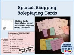 Updated! This is a great activity to have students practice clothing and shopping vocabulary in a practical real-life scenario. A proficiency and task based activity. Gets students up and moving around, while conversing with classmates about clothing items. Practice the roles of the Salesclerk, Customer, and Friend of Customer.