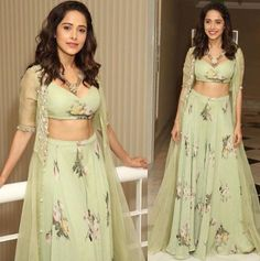 indian designer wear Nushrat Bharucha has made quite a name for herself in the Bollywood industry, all thanks to her superhit films like Pyaar Ka Punchnama and Sonu Ke Titu Ki Swee Party Wear Indian Dresses, Designer Party Wear Dresses, Party Wear Lehenga, Indian Gowns Dresses, Indian Bridal Outfits, Dress Indian Style, Indian Fashion Dresses, Indian Designer Outfits, Girls Fashion Clothes
