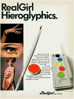 1960's cosmetic ad