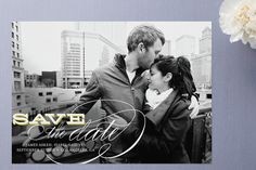 Calligraphy Save the Date Cards by annie clark at minted.com