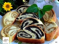 Useful articles and recipes: Zala ruffled poppy-walnut strudel Strudel, Hot Dog Buns, Sushi, Muffin, Favorite Recipes, Sweets, Bread, Meals, Cookies