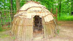 Ancient Native American Homes - different types (recreated)...could show during construction of wetus